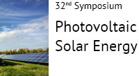 Join 32nd Symposium Photovoltaic Solar Energy in Bad Staffelstein (DE) on 8-10 March, 2017