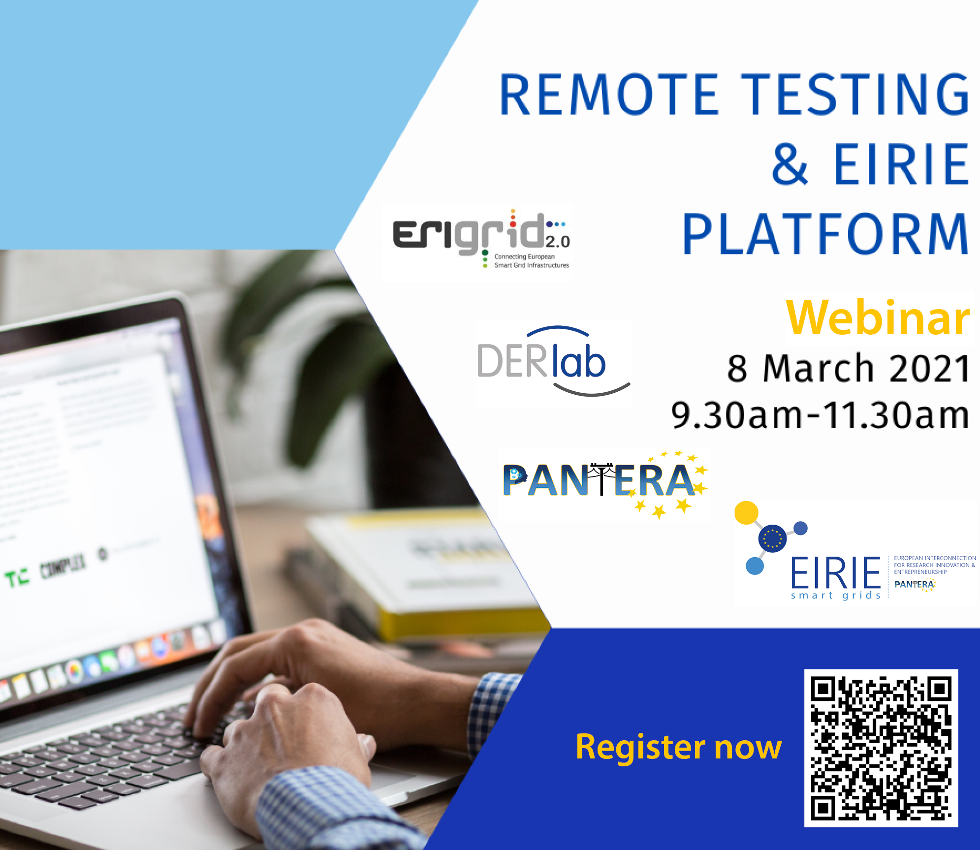 "Join us for the upcoming webinar ""Remote Testing & EIRIE Platform"""