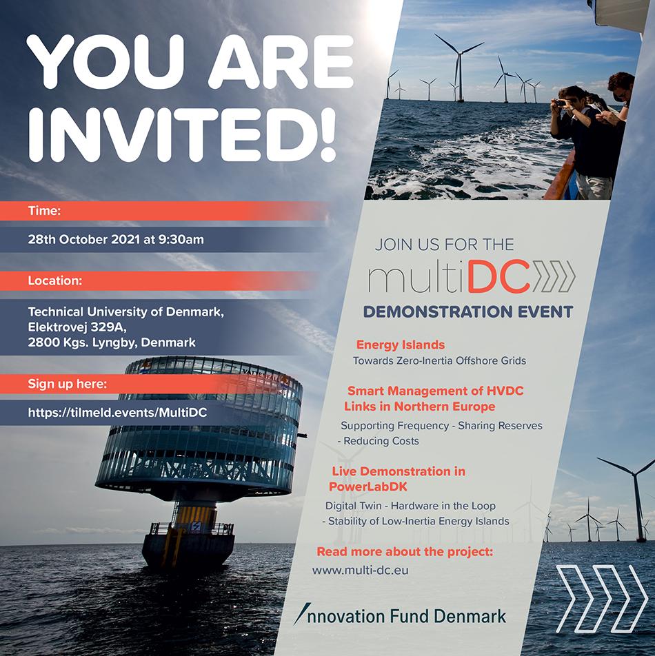 Join the multiDC Demonstration Event at DTU on October 28, 2021